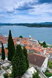 Ville méditerranéenne Sibenik, Croatie Photo stock