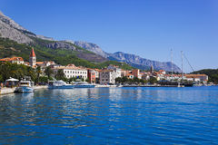 Ville Makarska en Croatie Photo stock