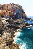 Ville MANAROLA, Italie, parc national Cinque Terre, Ligurie, il Image libre de droits