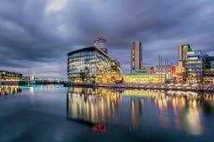 Ville Manchester de medias Image libre de droits