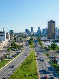 Ville-Marie highway in Dowtown Montreal Royalty Free Stock Photography