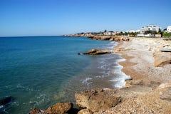 Ville méditerranéenne de Vinaroz en Espagne Images libres de droits