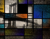 Ville moderne d'Art Inspired Landscape New York Photo libre de droits