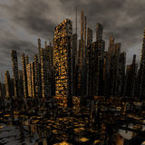Ville moderne de nuit Photos libres de droits