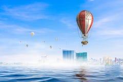 Ville moderne sous la mer Media mélangé Photos libres de droits