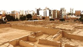 Ville moderne/ville antique Image libre de droits
