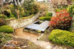 Ville Morlaix, France de Morlaix en dehors des bains Images stock