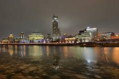 Ville Moscou de nuit images stock
