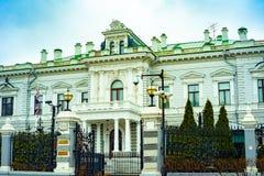 Ville Moscou Résidence de l'ambassadeur britannique, remblai de Sofia Russie images stock