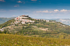 Ville Motovun, Istria, Croatie image stock