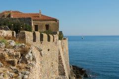 Ville murée médiévale de Monemvasia, Grèce photos stock