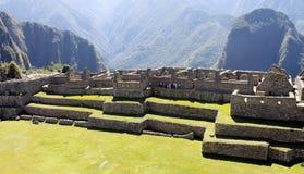 Ville mystérieuse de Machu Picchu, Pérou. Photo libre de droits