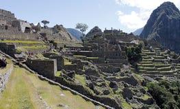 Ville mystérieuse de Machu Picchu, Pérou. Image libre de droits