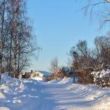 Ville nella città della chiesa di Gammelstad Immagine Stock Libera da Diritti