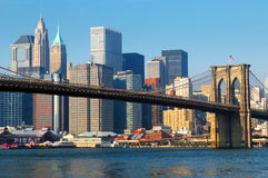 ville New York de Brooklyn de passerelle Photos libres de droits