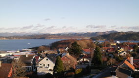 Ville norvégienne photos stock