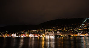 Ville norvégienne Bergen photo libre de droits