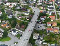 Ville norvégienne, Fredrikstad photographie stock