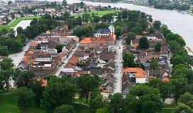 Ville norvégienne, Fredrikstad Image libre de droits