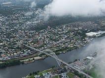 Ville norvégienne, Fredrikstad Images stock