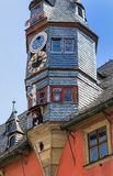 Ville nouvelle pittoresque Hall dans Ochsenfurt près de Wurtzbourg, Allemagne Photos stock