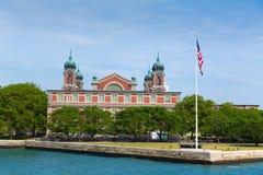 Ville NY d'Ellis Island Immigration Museum Jersey image libre de droits