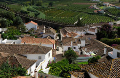 Ville Obidos, Portugal Photo libre de droits