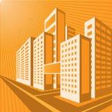 Ville orange Images libres de droits
