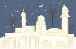 Ville orientale - vue de nuit Photos stock
