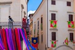 Ville Orte en Ombrie Tradition médiévale de la ville d'Orte, décembre photo libre de droits