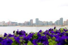 Ville Panorama des bâtiments en construction Image stock