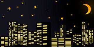 Ville pendant la nuit illustration libre de droits