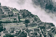 Ville perdue de pierre de Machu Picchu peru beau chiffre dimensionnel illustration trois du sud de 3d Amérique très Aucune person Images libres de droits