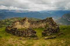 Ville perdue du Pérou - ruines de Kuelap près de Chachapoyas Photographie stock libre de droits