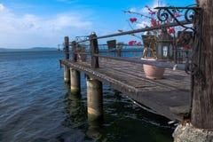 Ville Philippines de Batangas de lac Taal image libre de droits