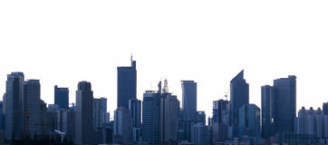 Ville Philippines de Manille d'horizon de Makati Image stock
