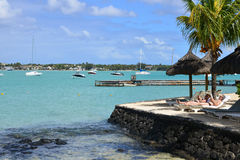 Ville pittoresque de baie grande en Mauritius Republic Images stock