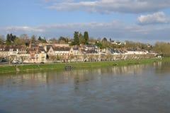 Ville pittoresque de Gien dans le Loiret Photographie stock libre de droits