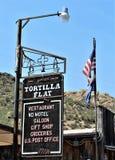 Ville plate de tortilla image libre de droits