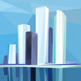 Ville polygonale Photographie stock libre de droits