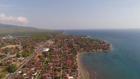 Ville portuaire c?ti?re Gilimanuk Bali, Indon?sie banque de vidéos