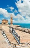 Ville provinciale de bord de mer de Caorle Italie Venezia près Images libres de droits