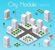 Ville réglée isométrique de module illustration libre de droits