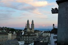 Ville riche de ¼ de ZÃ en Suisse Photographie stock libre de droits