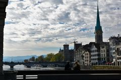 Ville riche et canton de ¼ de ZÃ en Suisse en Europe Photo stock