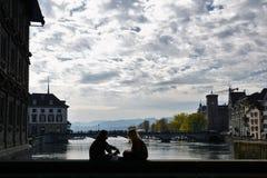 Ville riche et canton de ¼ de ZÃ en Suisse en Europe Image libre de droits