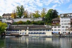Ville riche et canton de ¼ de ZÃ en Suisse en Europe Photos libres de droits