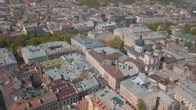 Ville a?rienne Lviv, Ukraine Ville europ?enne Secteurs populaires de la ville clips vidéos