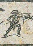 Ville romaine d'Italica, mosaïque de la Chambre de Neptune, Andalousie, Espagne Images stock