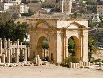Ville romaine dans Jerash Photos stock